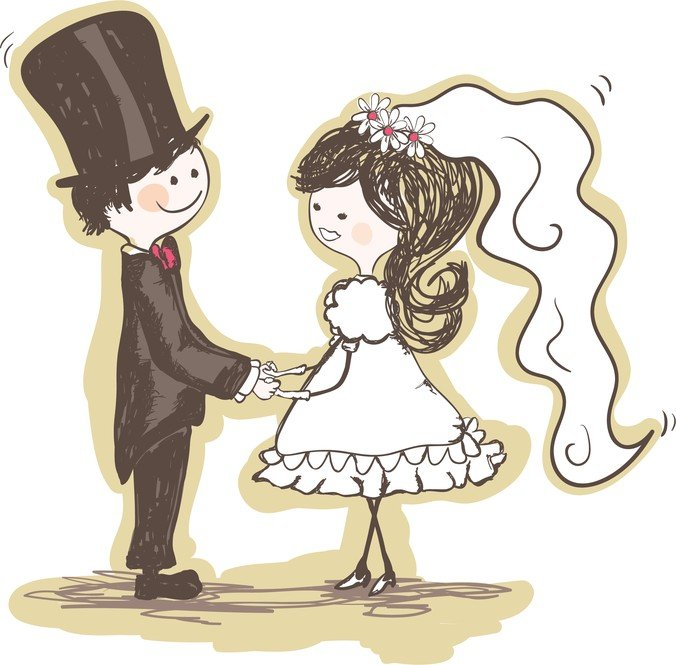 Handpainted Version Of The Bride And Groom 02