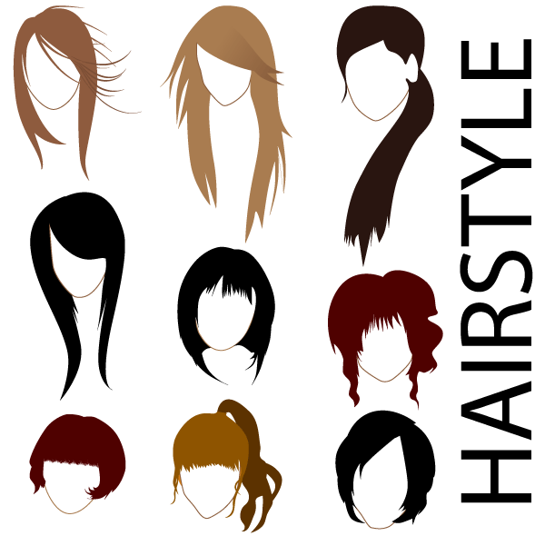 Free Vector Hairstyles Vector Files 365psd Com