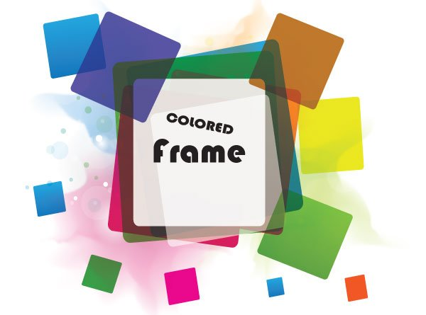 Color Abstract Vector Background Text Frame Stock Vector: Free Colorful Frame Vector In Colorful Background PSD