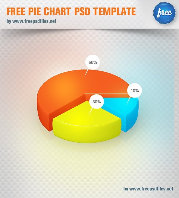 Free Pie Chart PSD Template, free vectors - 365PSD.com