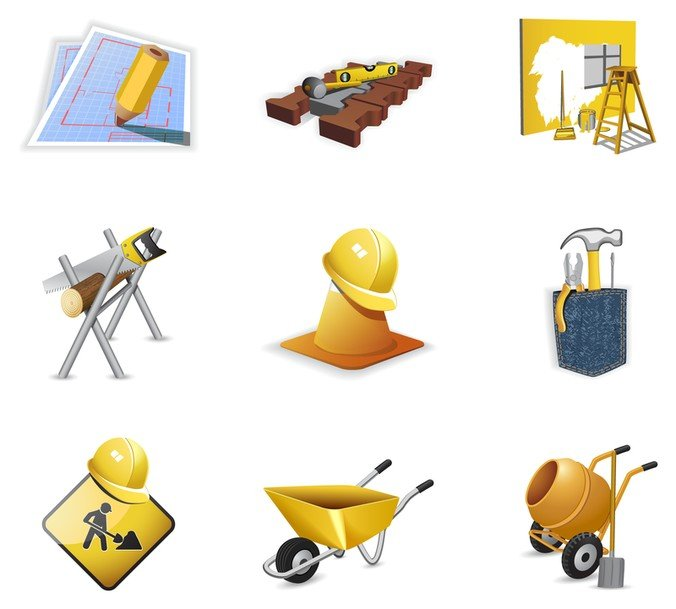 construction site theme icon