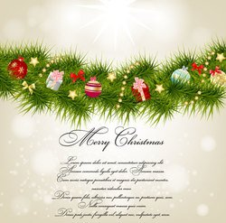 Christmas card background vector-6
