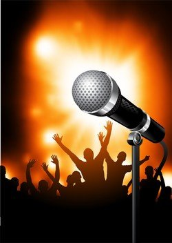 Microphone Bright Background