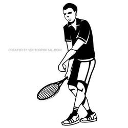 TENNIS PLAYER VECTOR DRAWING.eps