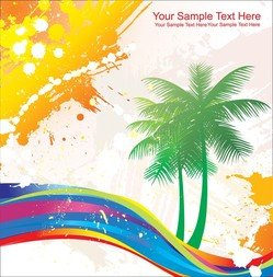 Elements Of Vector Colorful Beach Swelters
