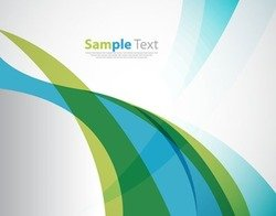 Abstract Blue Green Soft Wave Background