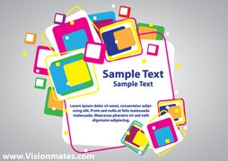 Colorful Cubes Vector Banner