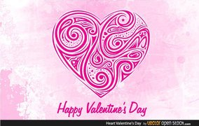 Free Floral Ornamental Heart for Valentines Day