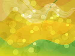 Gold Green Abstract Glowing Background