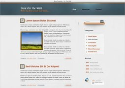 Blog Template On The Wall Free PSD Template