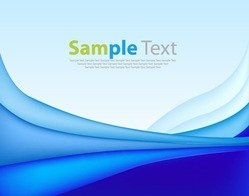 Vector Abstract Waves Blue Background