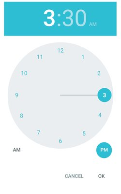 Android Lollipop 5 time picker (PSD resource)