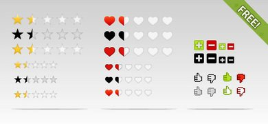 Free PSD Rating Elements and Icons