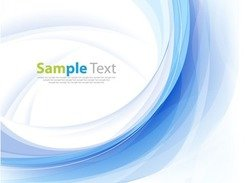 Abstract Blue Business Technology Colorful Wave
