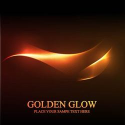 Golden Glow Abstract Spiral Line Background