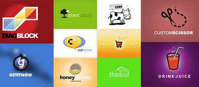 30 Mixed Animal Nature Food Vector Logos