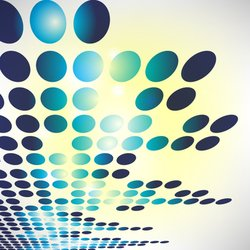 Abstract Blue Background with Dot Pattern
