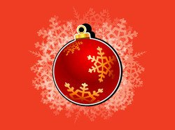 Christmas Ornament Ball with Snowflakes