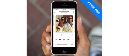 White Minimal iOS7 Music Player App