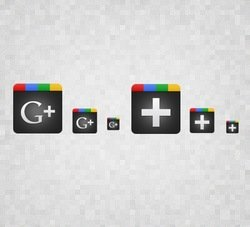 Simple Free Google+ Icon Set