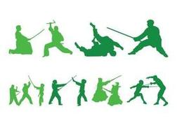 Fighting People Silhouettes