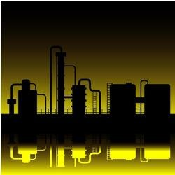 OIL REFINERY VECTOR GRAPHICS.eps