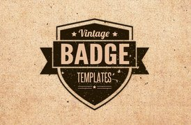 Vintage Badge Templates - Brushes, Vectors and Textures