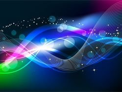 Abstract Wave Color Light Background
