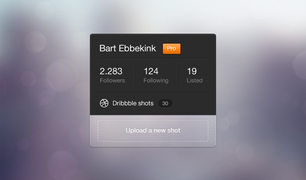 Dribbble Profile Widget