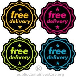 FREE DELIVERY VECTOR STICKERS.eps