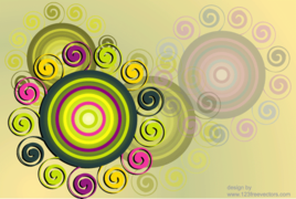 Swirl & Circle Background Free