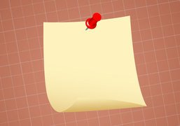 Pinned Post-It Note Paper