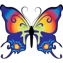 Beautiful and Colorful Summer Butterfly Vector Art