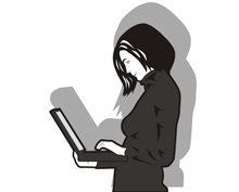 Woman and a laptop