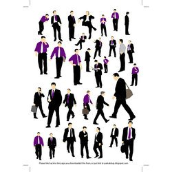 BUSINESSMEN SILHOUETTES GRAPHICS.eps