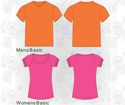 Free Vector Pack: T-Shirt Template Samples