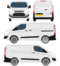 Ford Transit Courier Vector Outline