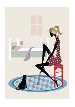 Girl and cat 2