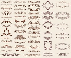 European-style Lace Pattern 02- Vector Material European-style Shading Patterns