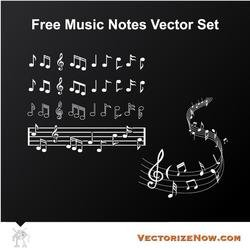 MUSIC NOTES VECTOR SET.eps