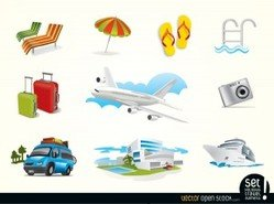 Free Vector Holiday Travel Elements