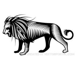 VECTOR CLIP ART OF A LION.eps