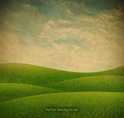 Green nature retro background vector 03