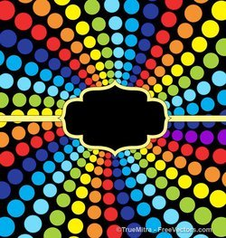 Rainbow Dots Background Banner