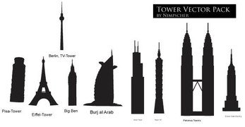 Tower vector city