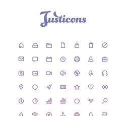 Justicons - 140 Stroke Icons