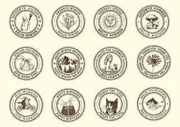 Free Vector Occasions Rubber Stamps