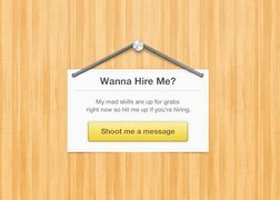Hire Me Sign (PSD)