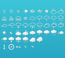 Meteocons - Icons + Fonts