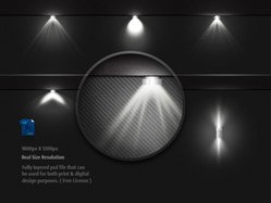 Stage Lighting Background With Spot Light Effects PSD Free